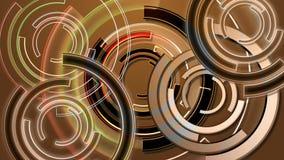 Un lazo abstracto del fondo del giro de oro suena stock de ilustración