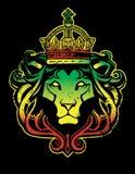 León de Rastafarian stock de ilustración