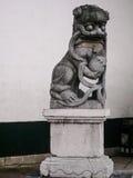 Un leone di pietra Immagini Stock Libere da Diritti