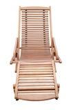Un lettino di legno isolato Fotografie Stock Libere da Diritti