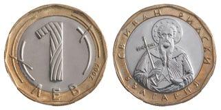 Un lev de Bulgare de pièce de monnaie Photographie stock libre de droits