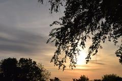 Un lever de soleil de Kansas City Photos stock