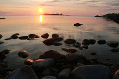 Un lever de soleil en août Image libre de droits