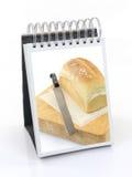 Un libro de cocina del marco fotografía de archivo libre de regalías