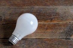 Un Lighbulb blanc Photos libres de droits