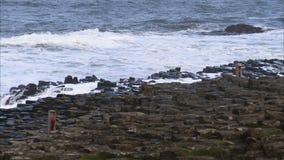 Un litorale roccioso in Irlanda stock footage