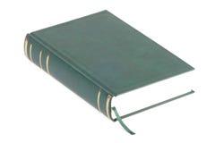 Un livre blanc vert avec le signet Photo stock