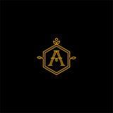 Un logo del monogramma Fotografie Stock
