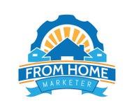 Un logo della casa per società immobiliare nello stile di divertimento fotografie stock