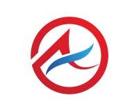 Un logo della lettera Immagine Stock
