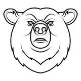 Un logo della testa dell'orso Immagini Stock Libere da Diritti