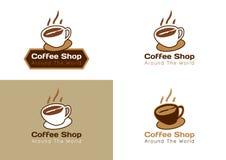 UN LOGO DI 4 CAFFETTERIE Fotografia Stock