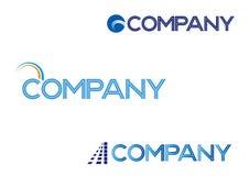Un logo di 3 vettori Immagine Stock