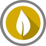 Un logo e un modello della foglia Immagini Stock Libere da Diritti