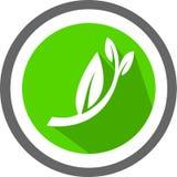 Un logo et un calibre de feuille illustration libre de droits