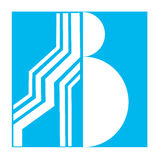Un logo per la lettera b Immagine Stock