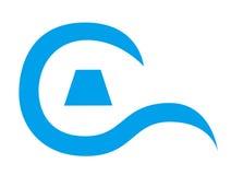 Un logo per la lettera c Fotografia Stock Libera da Diritti