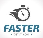 Un logo plus rapide Photographie stock