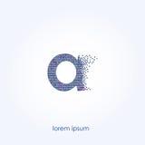 Un logotipo de la carta Diseño abstracto de burbujas azules Imagenes de archivo