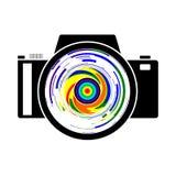 Un logotipo de la fotografía de una cámara stock de ilustración