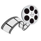 Un logotipo de la película ilustración del vector