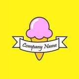 Un logotipo divertido del helado Imagen de archivo