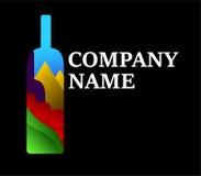 Un logotipo elegante del vino Imagen de archivo libre de regalías