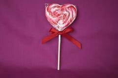Un Lollipop para el romance Foto de archivo libre de regalías