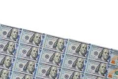 Un lotto di 100 dollari Fotografie Stock