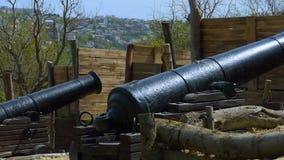 Un lugar histórico y un cañón almacen de video