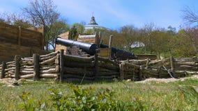 Un lugar histórico y un cañón almacen de metraje de vídeo