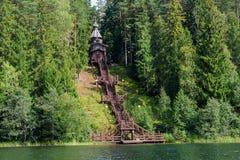 Un luogo santo sull'alta banca del lago Fotografia Stock