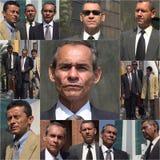 Un más viejo collage del hombre de negocios fotos de archivo libres de regalías