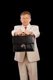 Un más viejo hombre de negocios con el agregado Imagenes de archivo