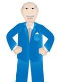 Un más viejo hombre de negocios con la actitud positiva - vector Imágenes de archivo libres de regalías