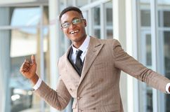 Un mâle d'affaires d'Afro-américain photos libres de droits