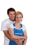 Un mâle et un artisan féminin Photographie stock libre de droits