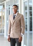 Un mâle noir d'affaires image libre de droits