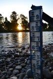 Un mètre d'eau Photos libres de droits