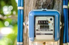 Un mètre intelligent de watt-heure dehors Photographie stock