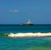 Un méga-yacht dans les grenadines Photos libres de droits