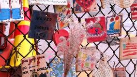 Un mémorial 9-11 à New York City Images libres de droits