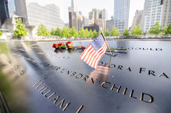 Un mémorial de World Trade Center Image stock