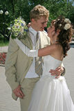 Un ménage marié neuf. photographie stock libre de droits