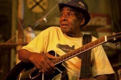 Un músico de los azules, Mississippi fotografía de archivo libre de regalías