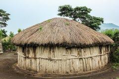 Un Maasai Boma Imagenes de archivo