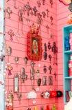 Un magasin coloré à Stockholm, Suède photos stock