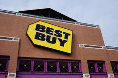 Un magasin d'électronique grand public de Best Buy Photo libre de droits