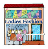 Un magasin de mode de dames Images libres de droits