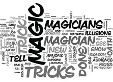 Un magicien S Oath Word Cloud Photos stock
